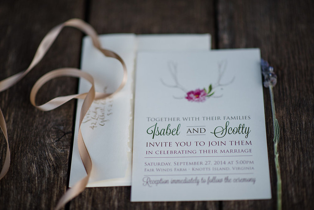 Rustic Southern wedding invitations