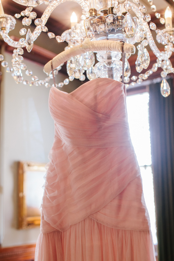 Pink wedding dress at Wentworth Mansion