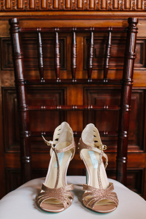 Sparkly Charleston wedding shoes