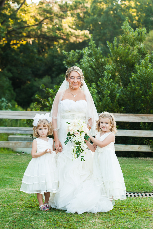 Charleston Bride with Flower girls