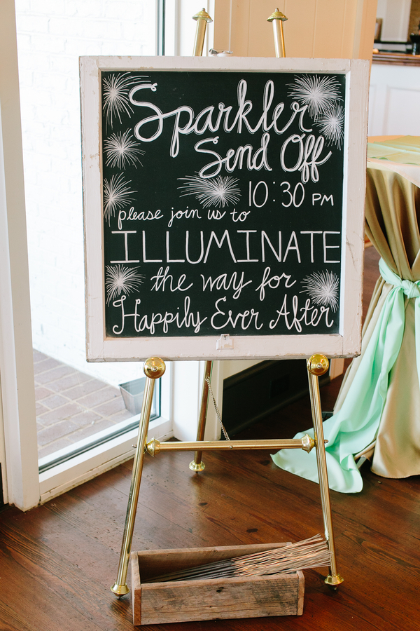 Sparkler Send Off Chalkboard