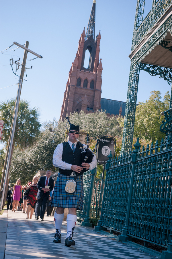 Charleston wedding bagpiper