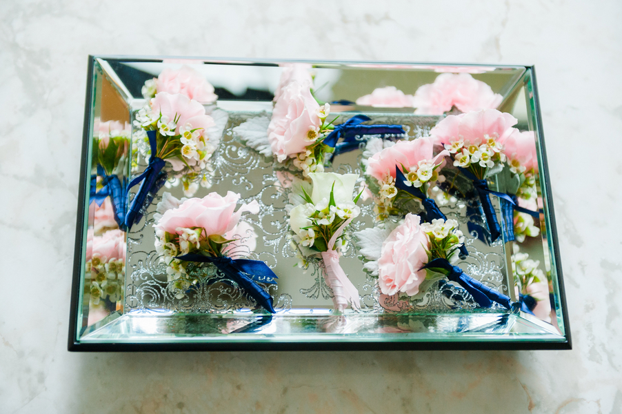 Pink Boutonnieres