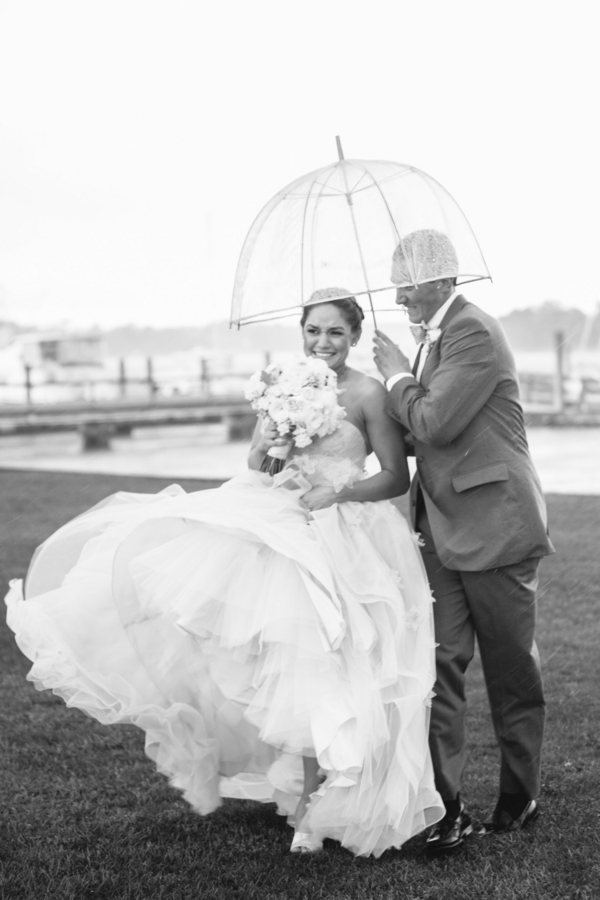 Rainy wedding in Charleston, SC