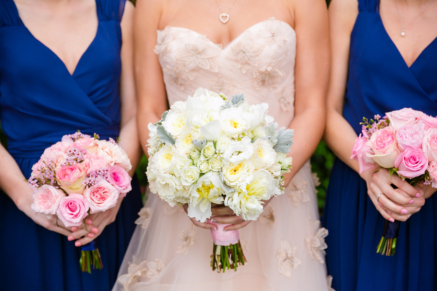 Blue & Pink wedding