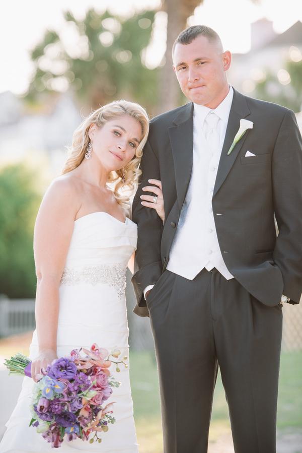 Purple Charleston Beach wedding at Wild Dunes