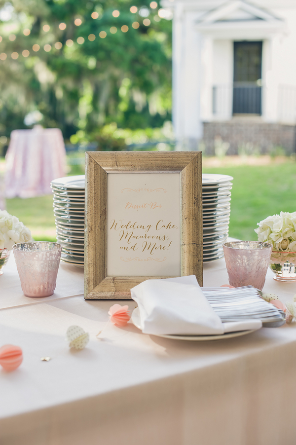 Blush and Gold Decor