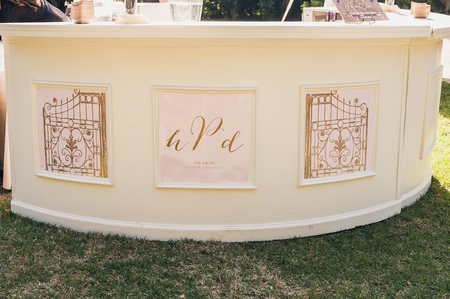 Custom wedding bar