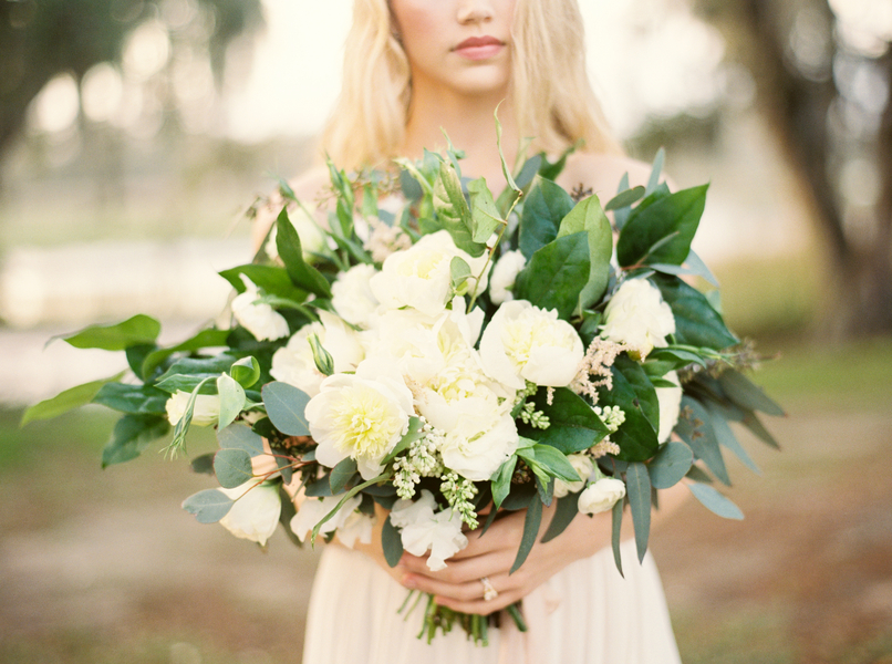 Organic Charleston wedding bouquet