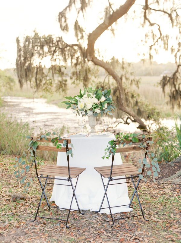 Boone Hall Plantation tablescape
