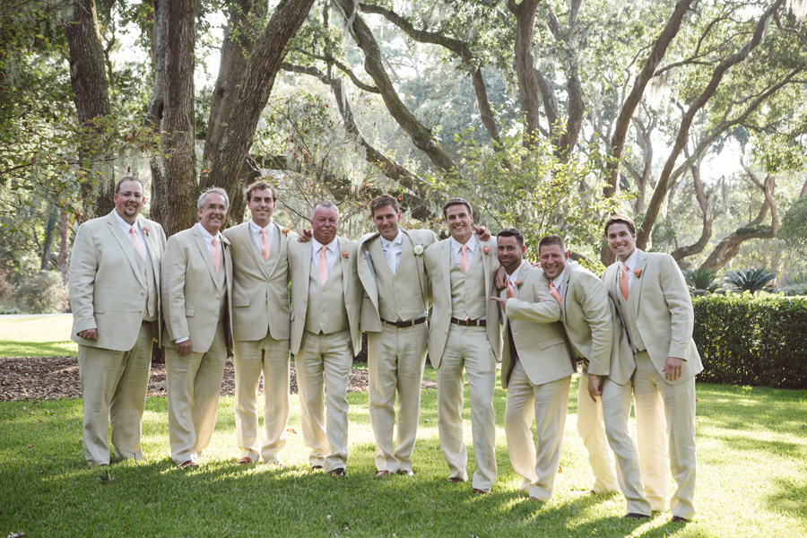 Bridal Party wearing Tan Suits