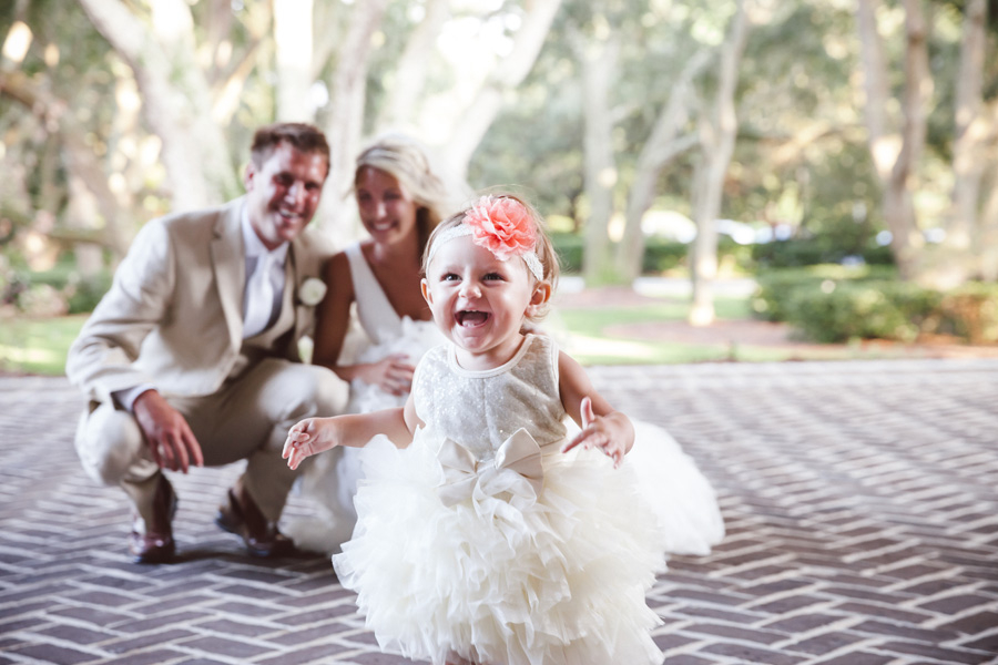 Flower girl at Charleston wedding