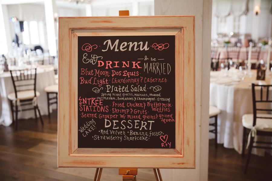 Charleston wedding chalkboard