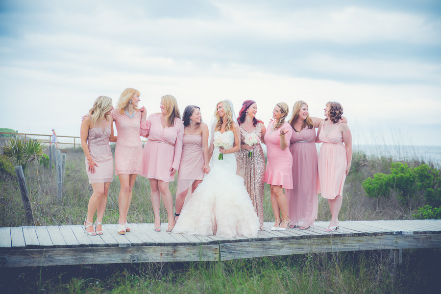 PInk Badgley Mischka Bridesmaids Dresses