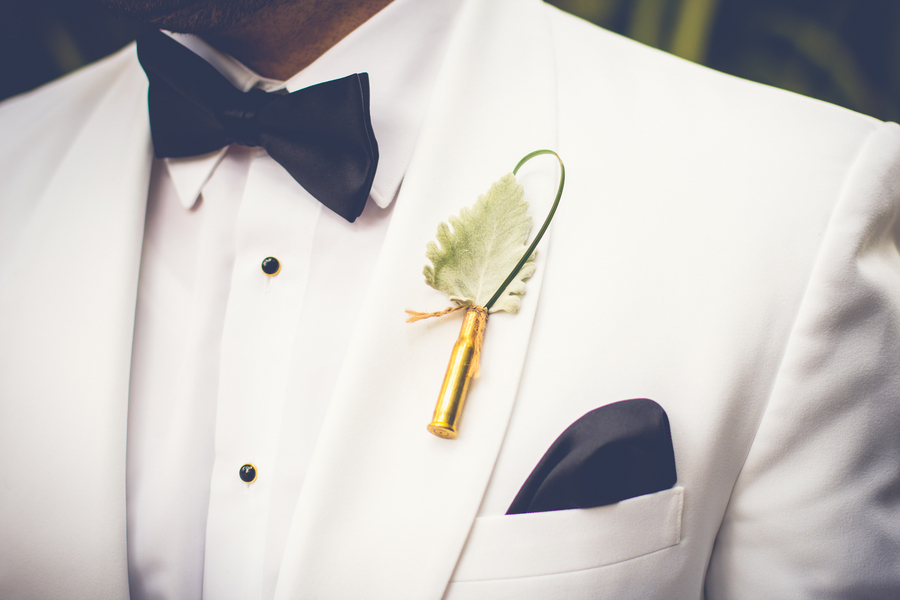 Gold Charleston Wedding Boutonniere