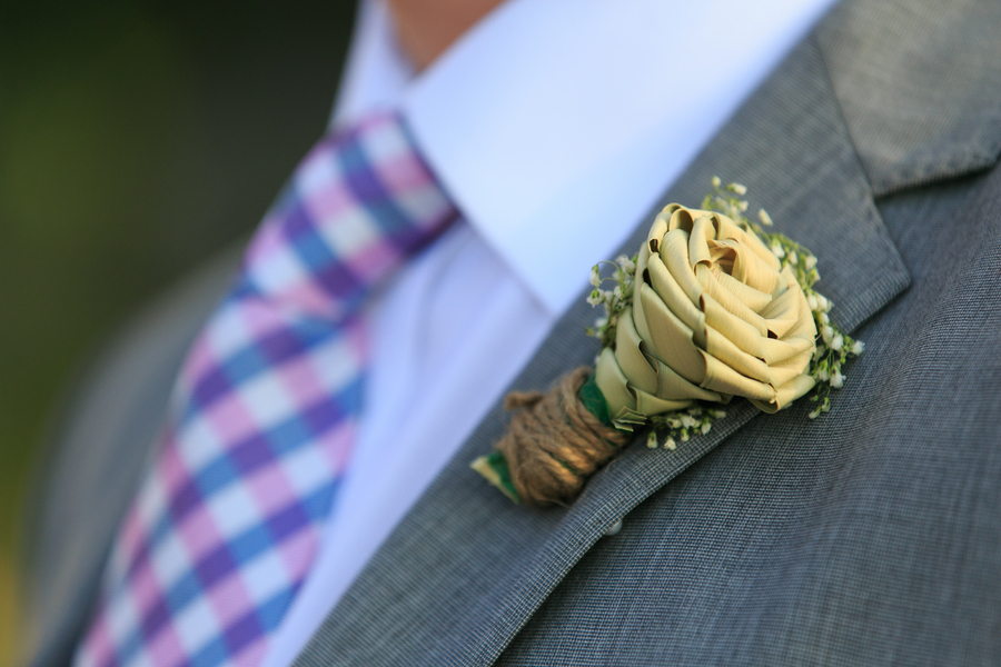 Sweetgrass Rose Boutonniere