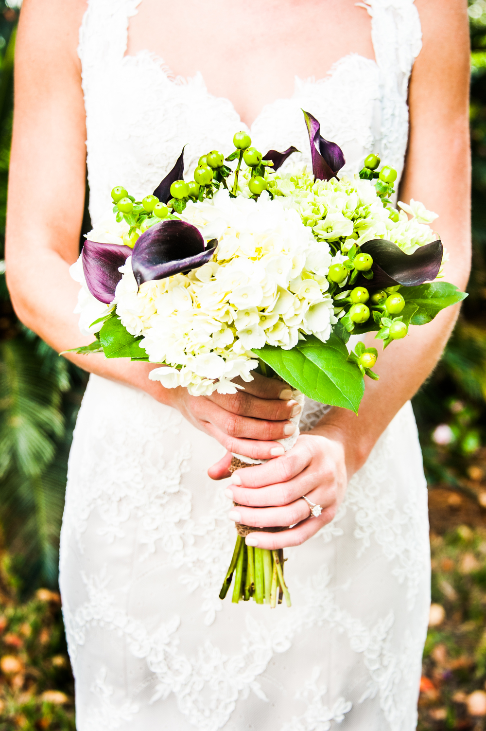 Purple Calla Lily Wedding Bouqet