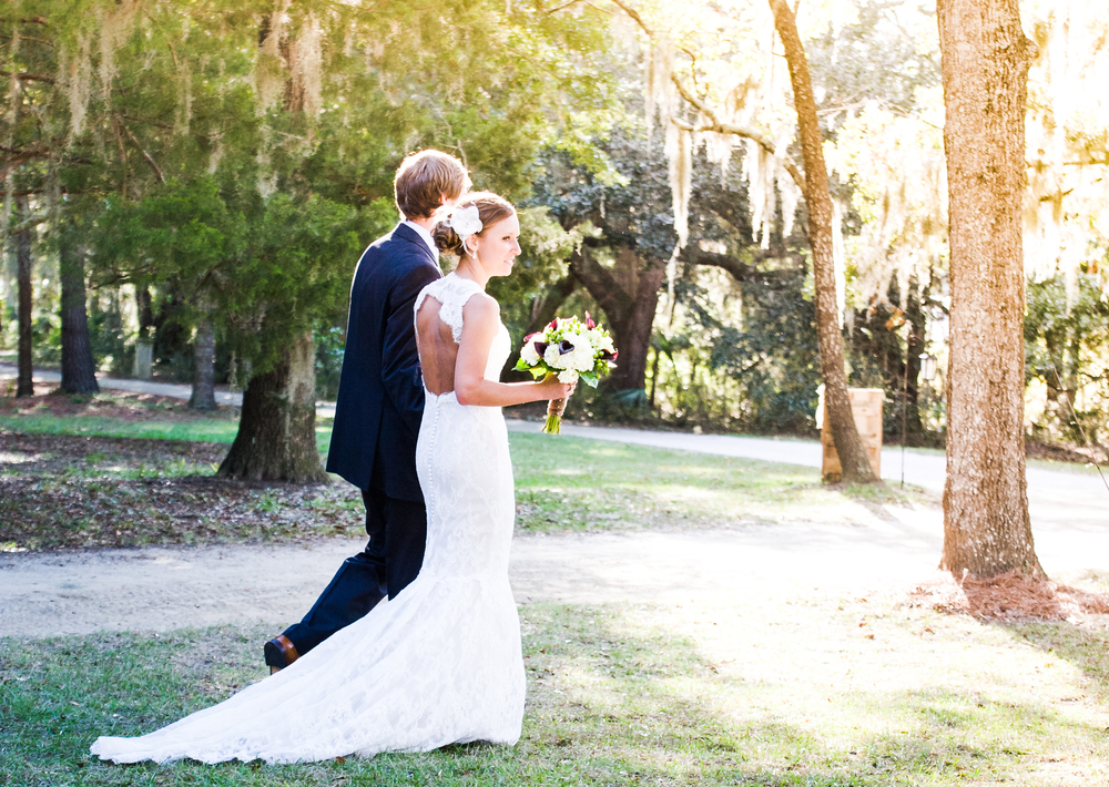 Lowcountry Wedding Couple on Edisto Island