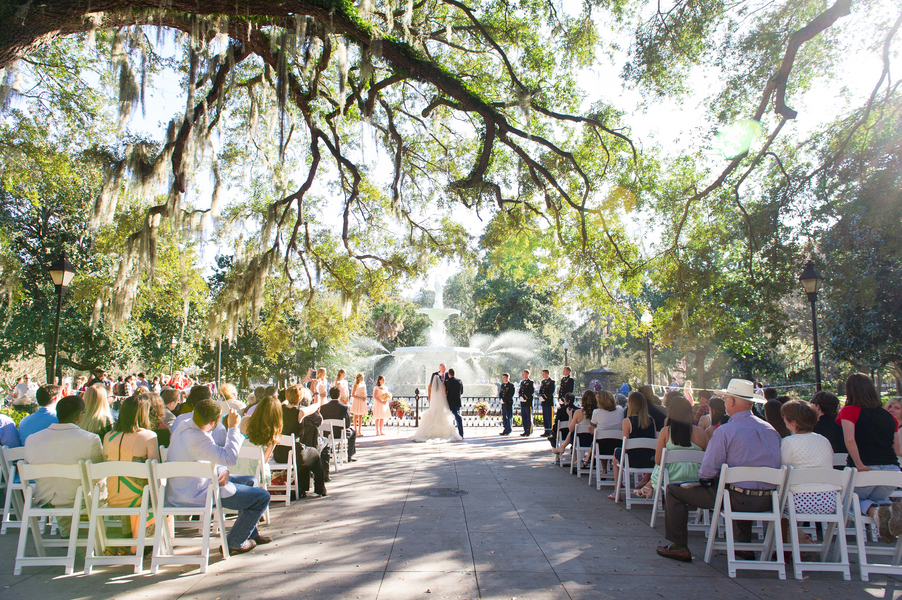 Forsyth Park Wedding Ceremony