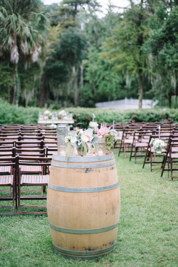Charleston Wedding Wine Barrels