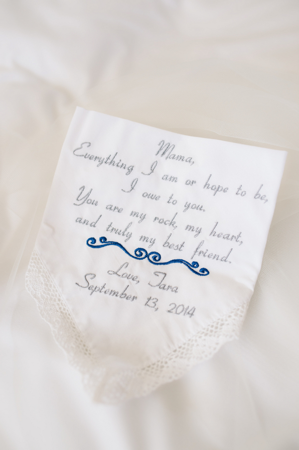 Charleston wedding handkerchief