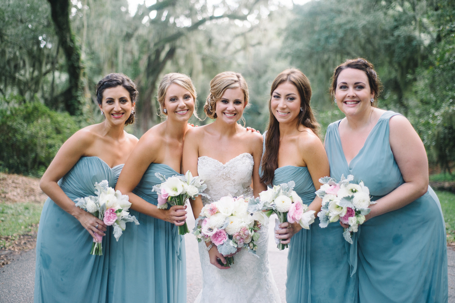 Coastal Blue Bridesmaids Dresses