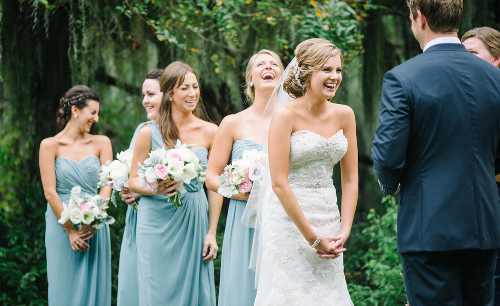 Magnolia Plantation wedding ceremony