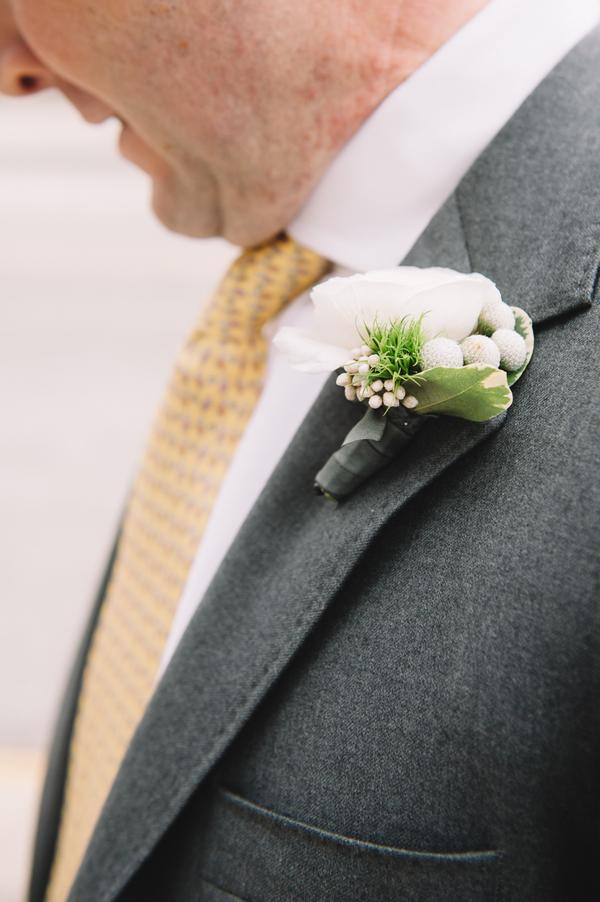 Charleston wedding boutonniere