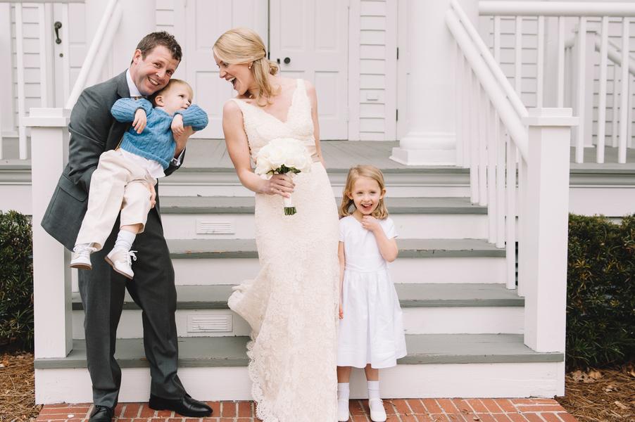 Lace Monique Lhuillier Wedding Gown