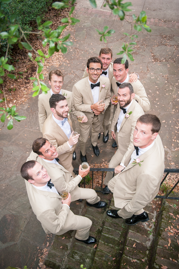 Bridal Party in Tan Suits