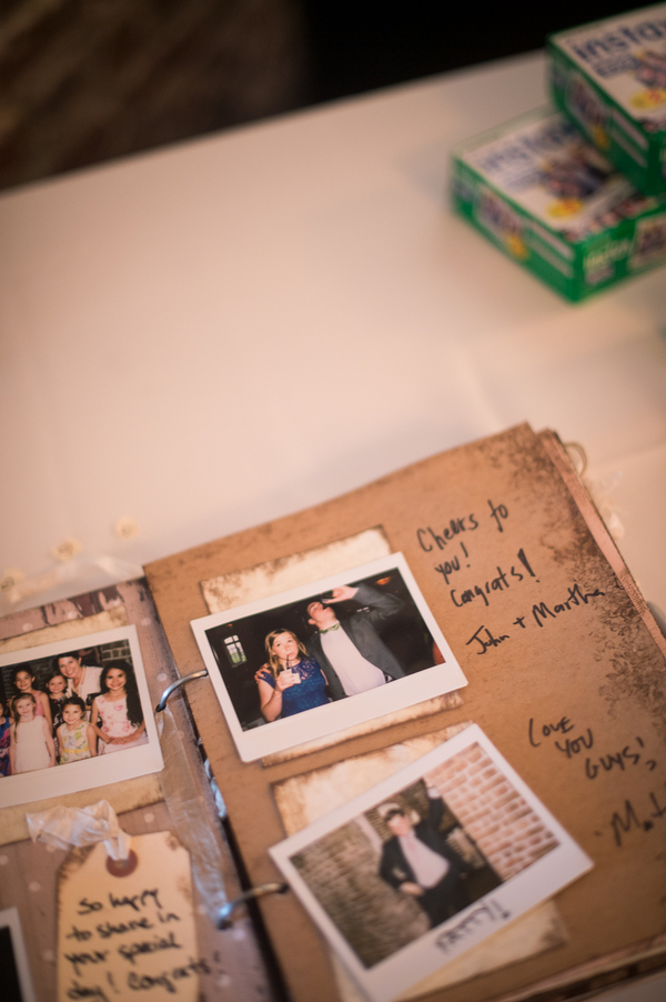 Guest book at Rice Mill wedding