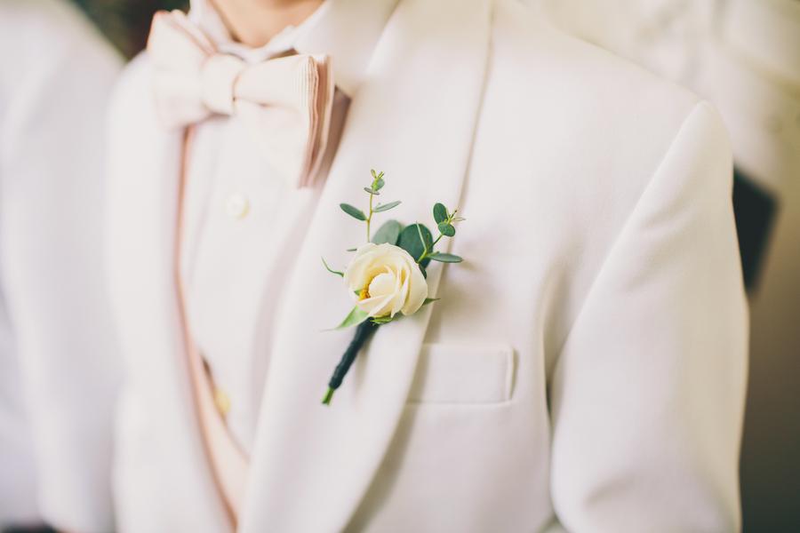 White Dinner jackets at Charleston Wedding