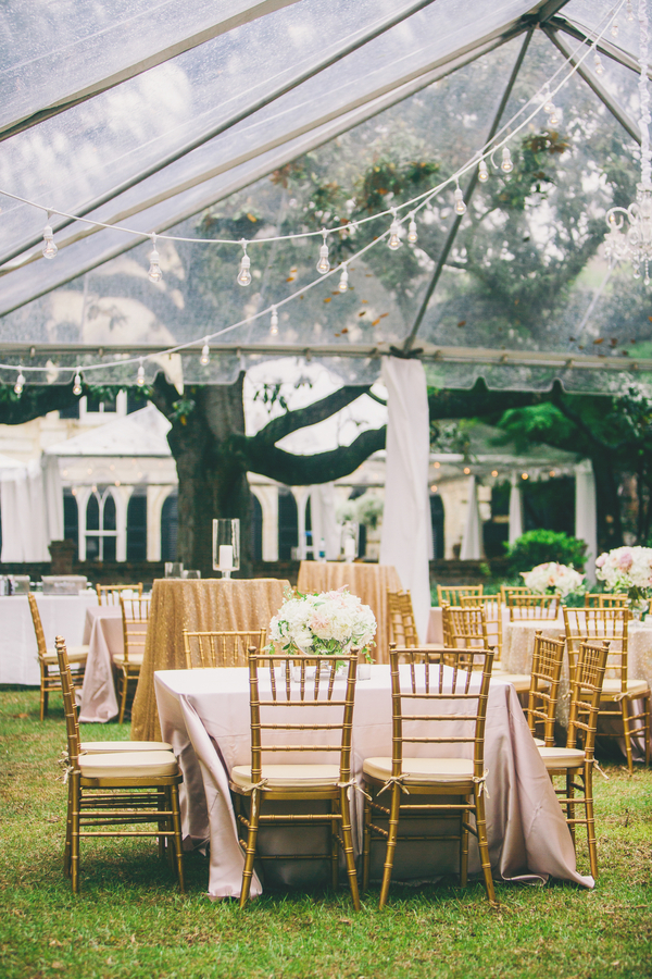 Pink & Gold William Aiken House Wedding