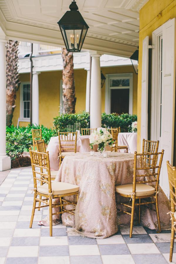 Pink & Gold Charleston wedding