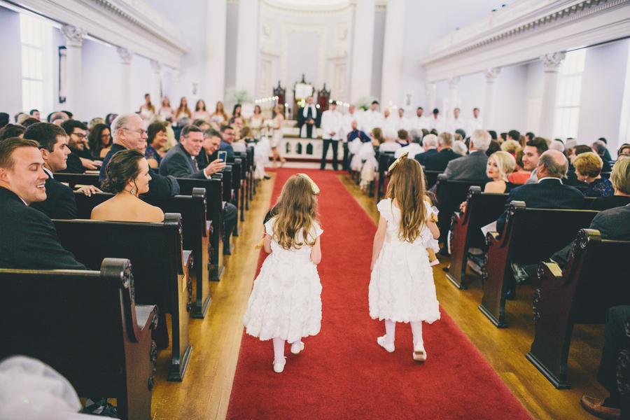 Flower girls at Charleston Wedding