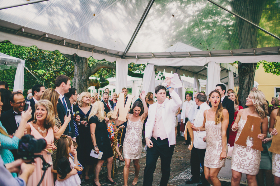 Clear Tented reception at William Aiken House wedding