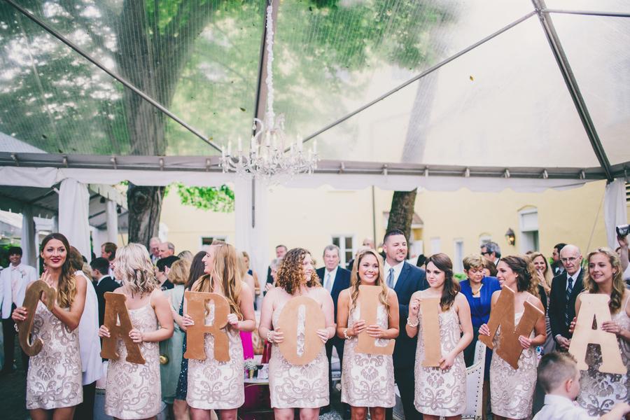 Gold Bridesmaids Dresses
