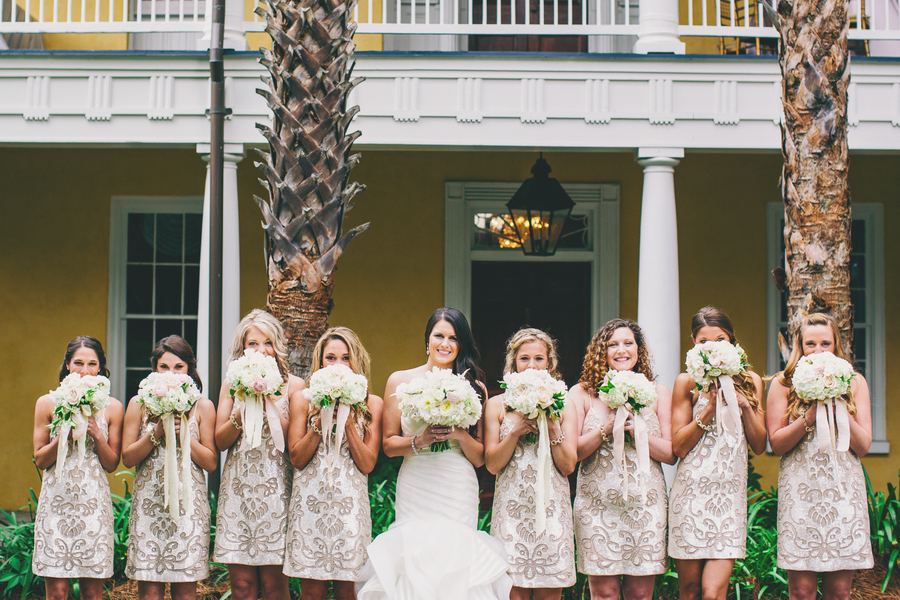Gold Bridesmaids Dresses by Hyer Images