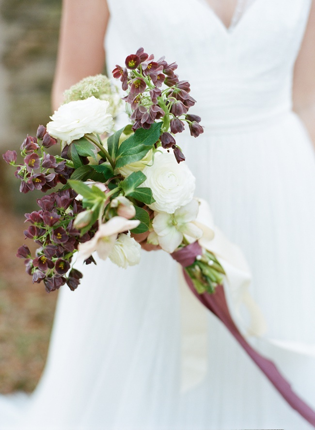 Purple Charleston wedding bouquet at RiverOaks