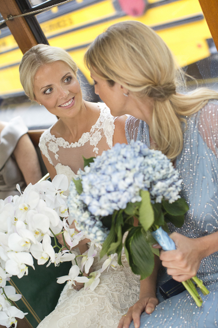 Blue Bridesmaid Dresses at Wedding in Charleston