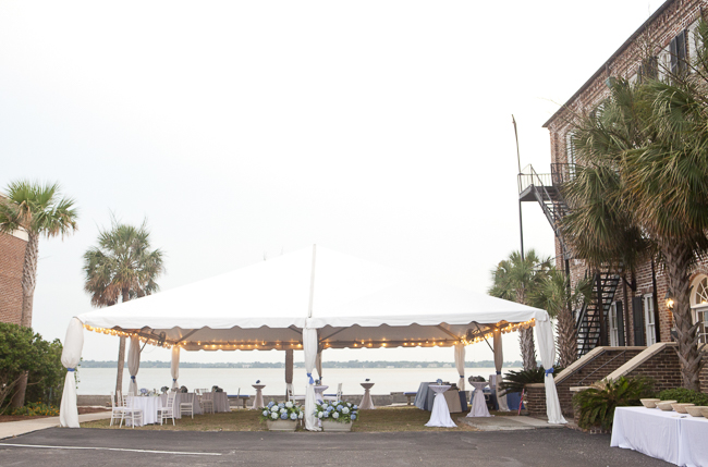 Outdoor reception at Charleston wedding