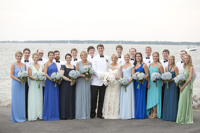 Blue Bridesmaid Dresses at Wedding in Charleston, SC