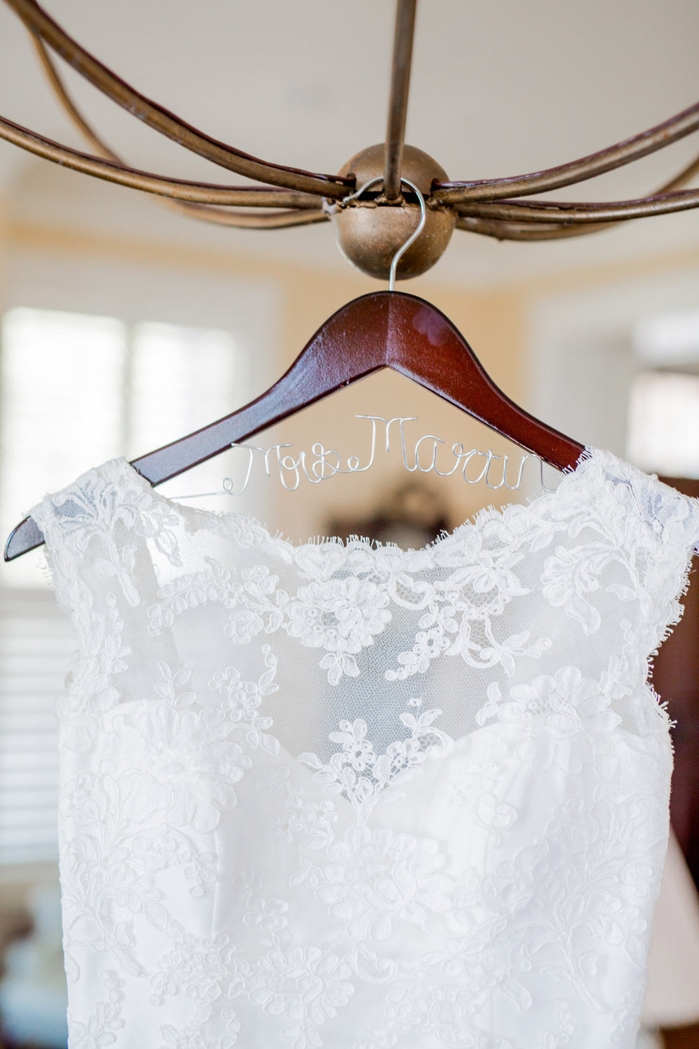 Paloma Blanca dress at Beaufort, SC wedding
