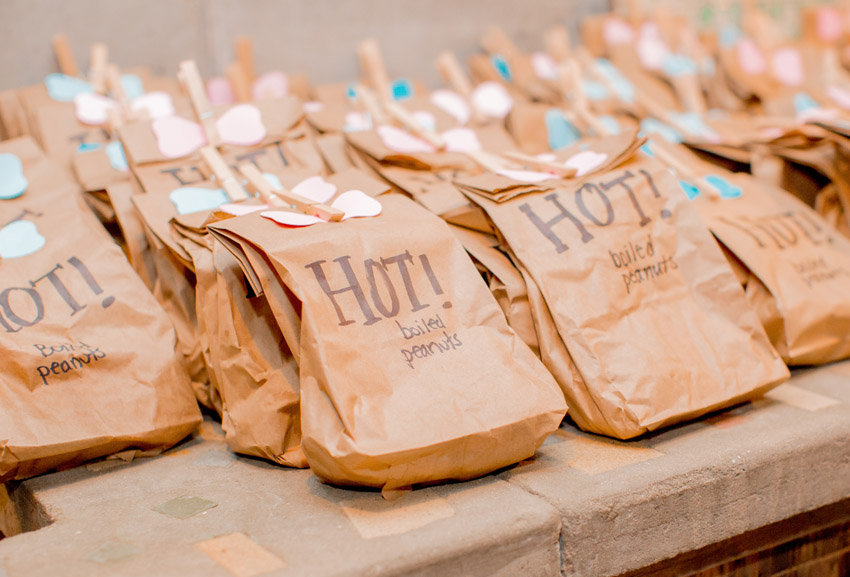Hot Boiled peanuts wedding favors in Beaufort, SC