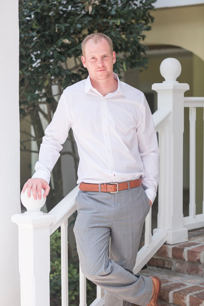 Casual Groom at Plantation Landing wedding