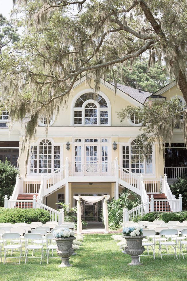 Savannah Wedding at Plantation Landing ceremony on Wilmington Island