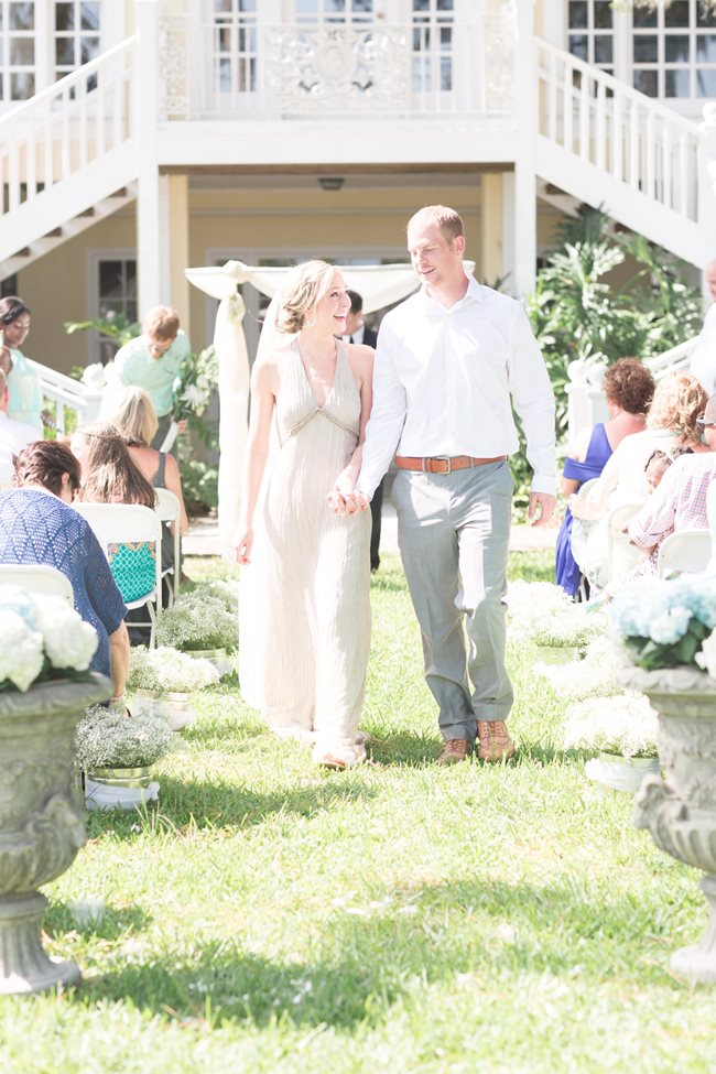 Plantation Landing wedding ceremony on Wilmington Island by Lyndi J. Photography