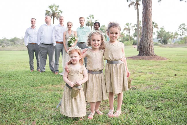 Flower girls at Plantation Landing wedding on Wilmington Island