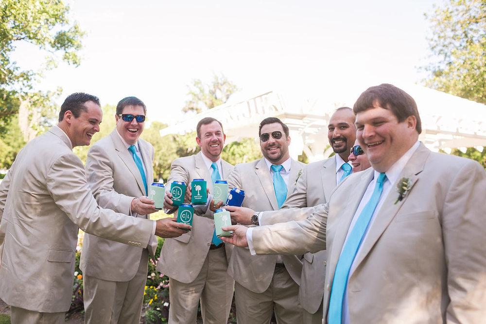 Groomsmen at Daniel Island Club wedding