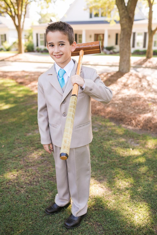 Ring bearer at Charleston wedding